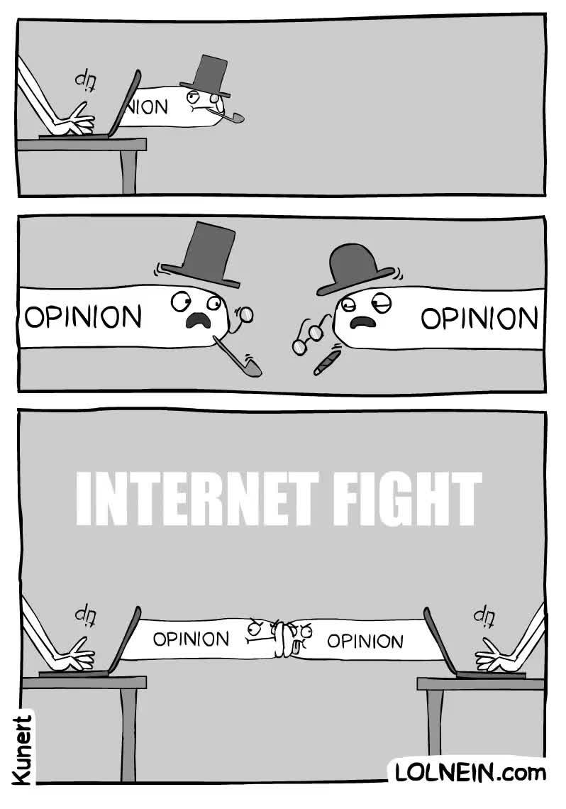 Enlace a Las peleas en Internet explicadas de la mejor manera