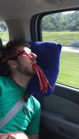 Enlace a No te quedes dormido en el coche con tus amigos trolls dentro