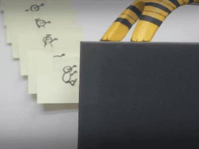 Enlace a Post-it parkour, lo que hace la imaginación