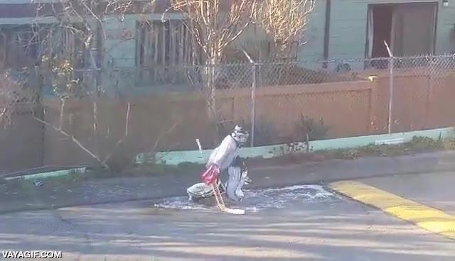 Enlace a Esto sí es dedicación por el hockey sobre hielo