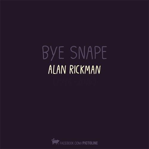 Enlace a Un precioso homenaje gráfico al gran Severus Snape, ¡hasta siempre Alan!