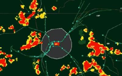 Enlace a Redirigiendo el tráfico aéreo a causa de una tormenta