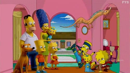 Enlace a Los Simpson contra su versión otaku