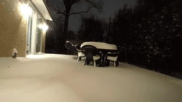Enlace a Timelapse de la gran nevada cerca de Philadelphia