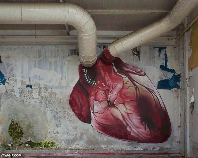 Enlace a Representación del latido de un corazón con mucho arte y talento