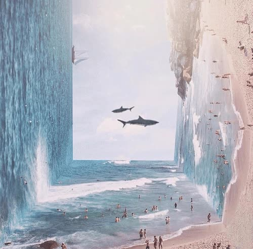 Enlace a Una playa surrealista