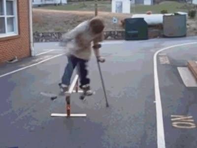 Enlace a Estar lesionado no es incompatible con ser un crack del skate