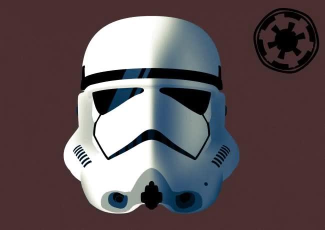 Enlace a Evolución animada del casco de los Stormtrooper