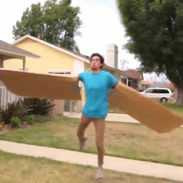 Enlace a Volando con simples alas de cartón