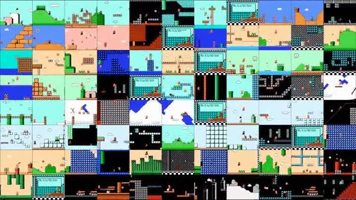 Enlace a Las 90 pantallas de Super Mario Bros 3 jugadas al mismo tiempo