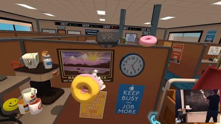 Enlace a Haciendo malabares con donuts en Realidad Virtual