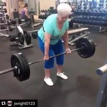 Enlace a Cuando vayas al gimnasio acuérdate de esta señora mayor para motivarte