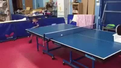 Enlace a Si sigue entrenando duro se convertirá en una gran jugador de Ping Pong