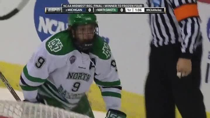 Enlace a Un árbitro se lleva por delante a un jugador de hockey
