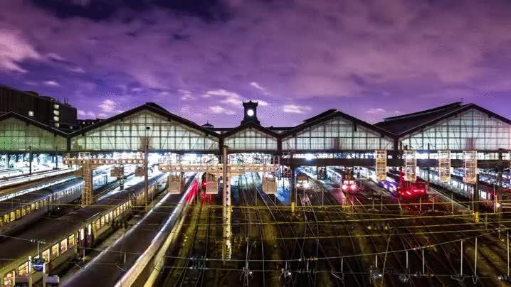 Enlace a Hora punta en la estación de Gare Saint-Lazare