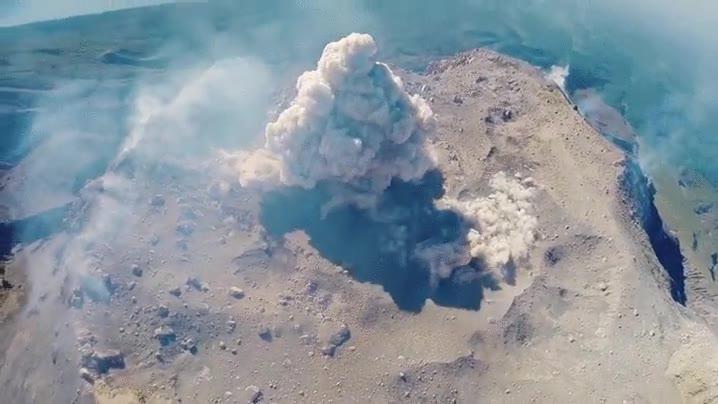 Enlace a Espectacular erupción volcánica