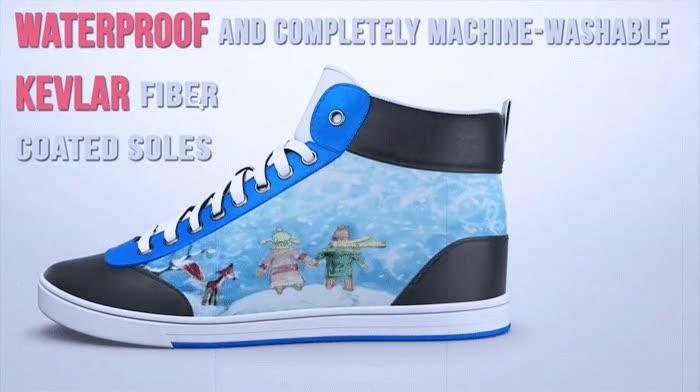Enlace a Zapatillas digitales. Puedes cambiar su diseño con tu smartphone. El futuro
