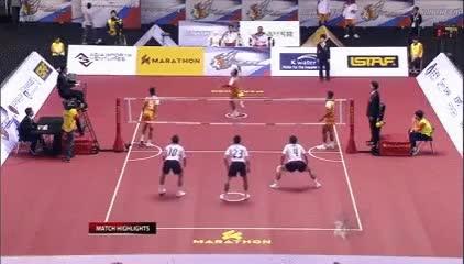 Enlace a Ninjas jugando a volleyball