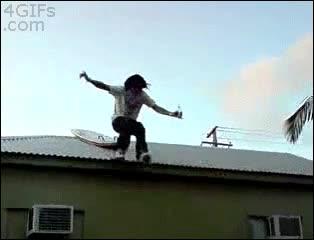 Enlace a Nunca intentes surfear en el tejado de tu casa. El fracaso está asegurado