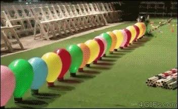 Enlace a Bobby tiene un serio problema con los globos, no los soporta