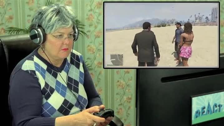 Enlace a Cuando tu abuela juega su primera partida a GTA V