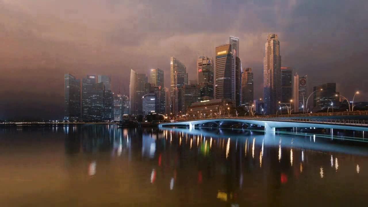 Enlace a Espectacular timelapse del centro de Singapur