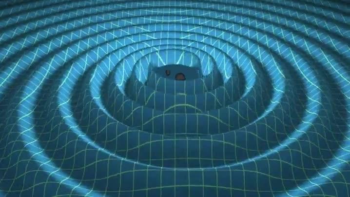 Enlace a Dos agujeros negros fusionándose