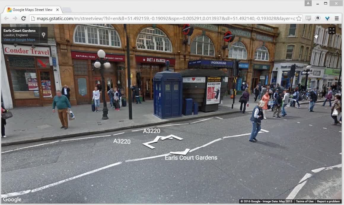 Enlace a Entrando en la TARDIS gracias a Google Street View