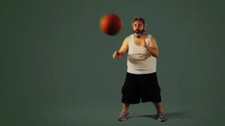 Enlace a Rompiendo en pedazos una pelota de basket