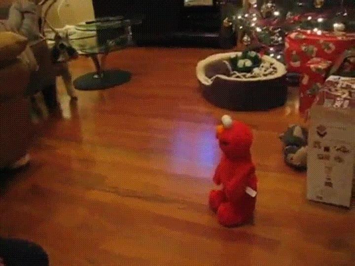 Enlace a Perro luchando contra una extraña y diabólica criatura