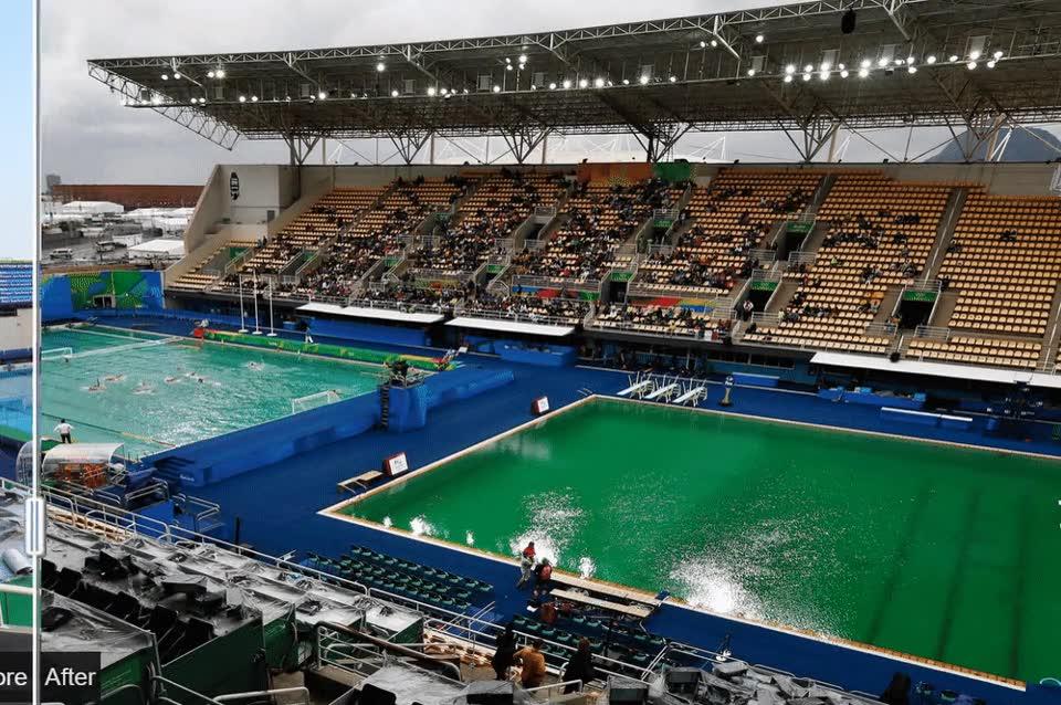Enlace a Antes y después de las misteriosas piscinas verdes de Río