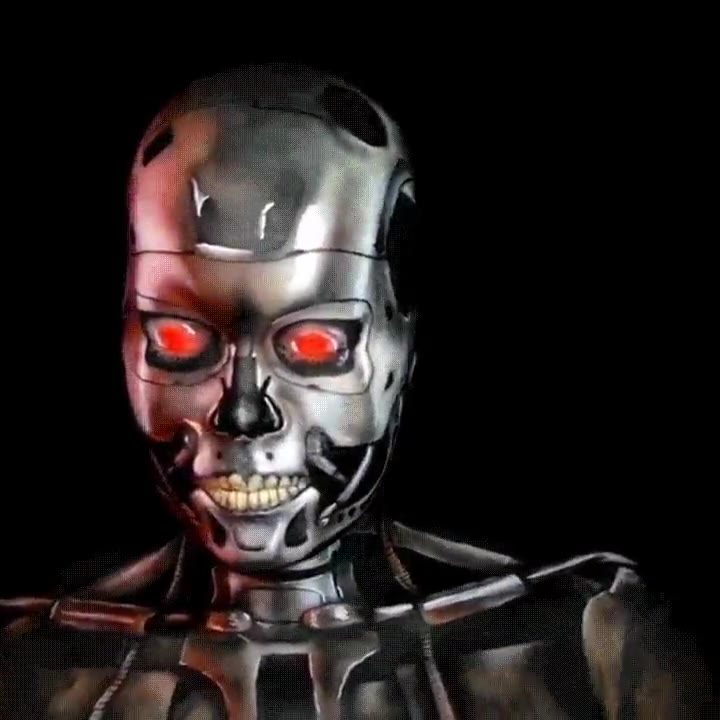 Enlace a Espectacular maquillaje de Terminator