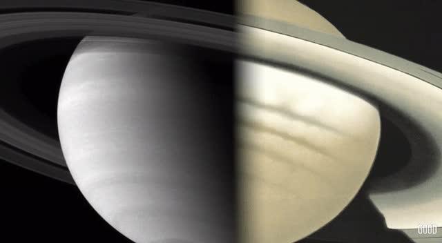 Enlace a Dibujo de Saturno en el 1800 comparado con una imagen de la NASA en 2016
