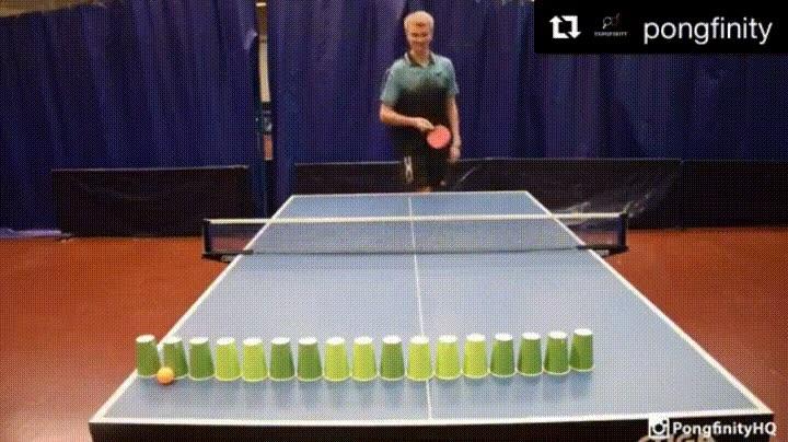 Enlace a Ser un maestro Jedi del ping pong.