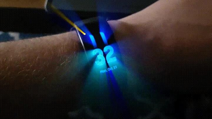 Enlace a Reloj modificado para dejar escapar rayos de luz al exterior