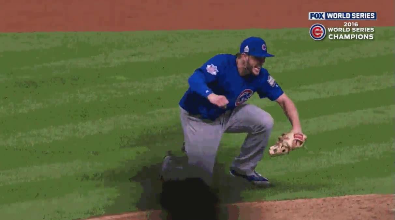 Enlace a La jugada ganadora de Kris Bryant que le da el título a los Cubs