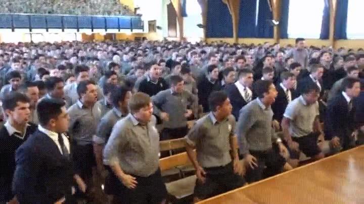 Enlace a El homenaje de unos alumnos a un profesor neozelandés retirado