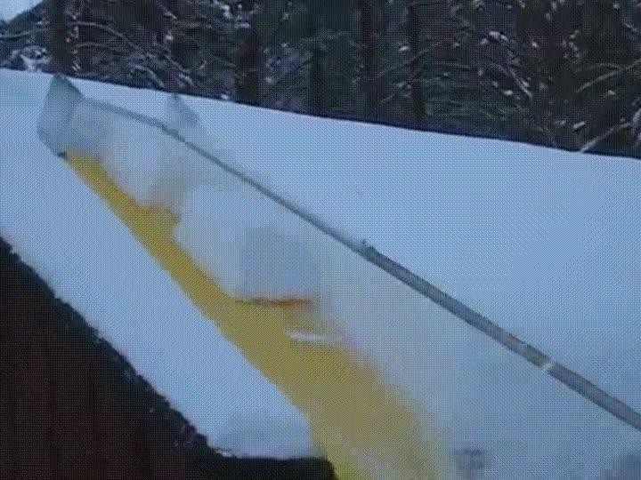 Enlace a Limpiando un techo de nieve de la forma más efectiva y satisfactoria