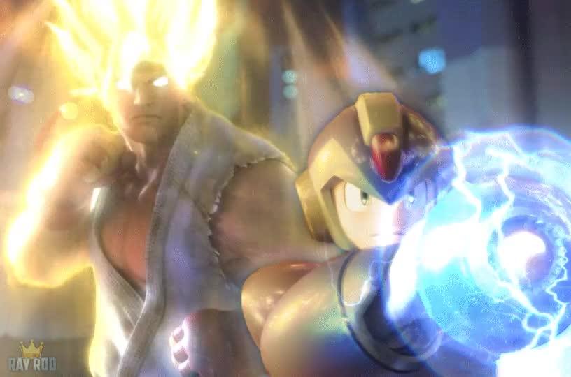 Enlace a Mi equipo de ensueño: Super Saiyan Ryu y Megaman