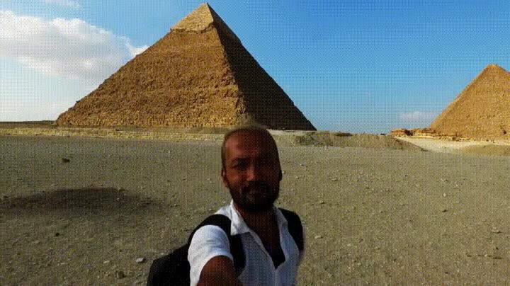 Enlace a Espectacular vista de la Pirámide Guiza a vista de dron