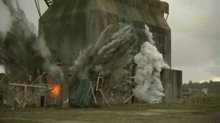 Enlace a Explosión de un edificio a cámara lenta
