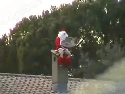 Enlace a Santa también necesita un descanso para hacer sus cosas