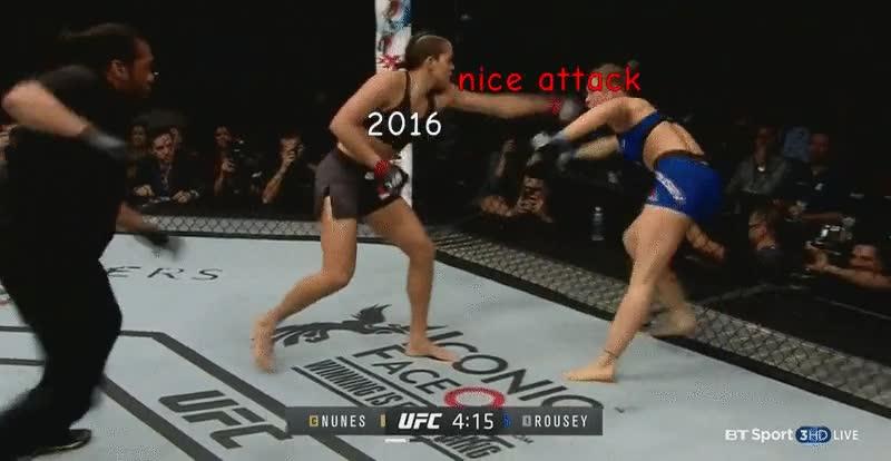 Enlace a Ronda Rousey peleando contra 2016