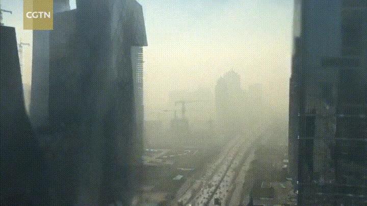 Enlace a Time-lapse de la niebla tóxica sobre la ciudad de Beijing