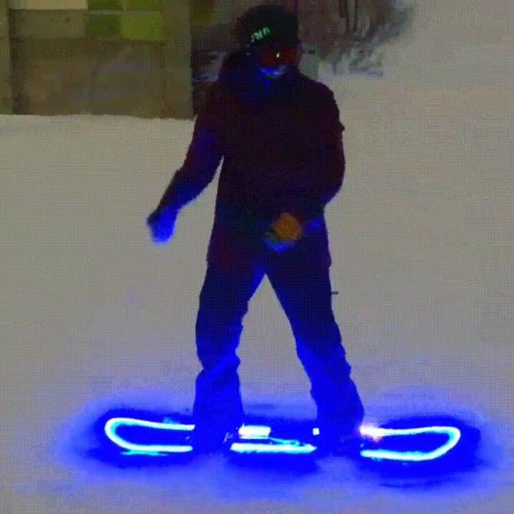 Enlace a El increíble efecto de instalar LEDS en tu tabla de snowboard