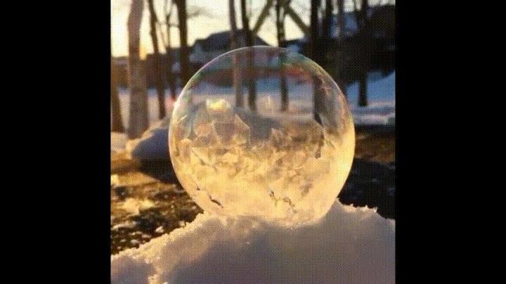 Enlace a El alucinante efecto de una burbuja congelándose