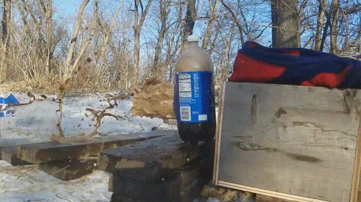 Enlace a Lo que hace una pistola de 9mm a una botella de 2l de Pepsi