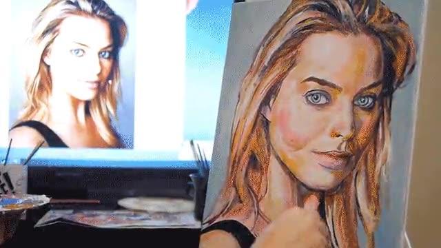 Enlace a Time-Lapse de un dibujo de Margot Robbie. Alucinante