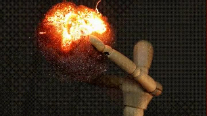 Enlace a Ver un estropajo de acero quemarse es muy placentero