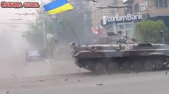Enlace a No hay NADA que pueda detener a un tanque ucraniano a toda velocidad